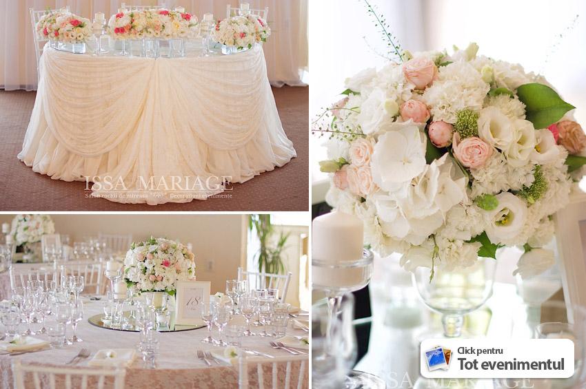 Decoratiuni Nunta Cu Aranjamente La Baza Mesei Ok Ballroom
