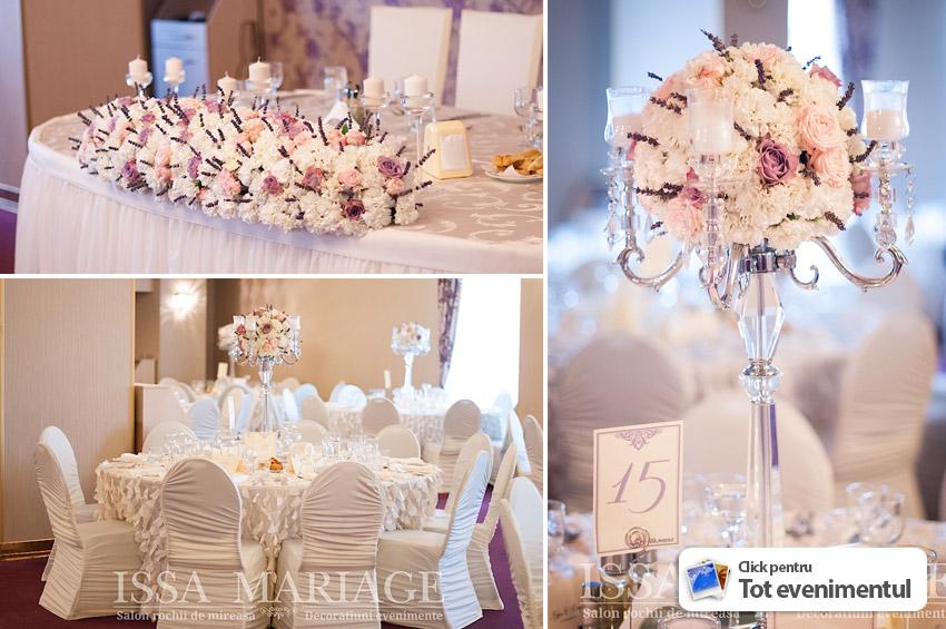 Decoratiuni Nunta Ivory Cu Aranjamente Florale Paradis Royal