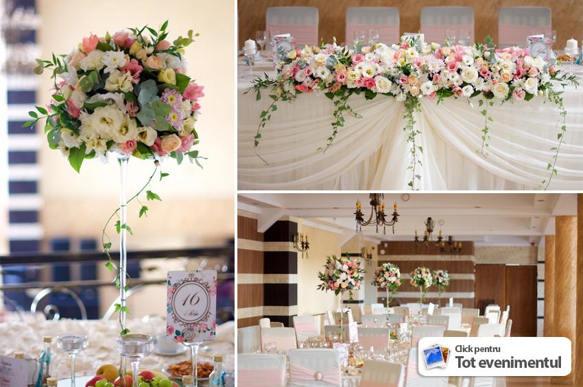 Decoratiuni Nunta Ivory Si Aranjamente Florale La Restaurant Crystal