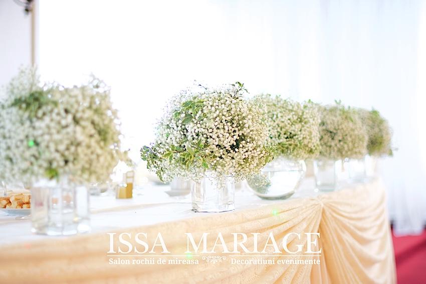 Aranjamente Nunta Issa Din Floarea Miresei Realizate La Ok Events